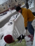 Friends showed up to shovel our front steps after a snowstorm last year.
